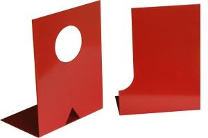 A y J sujetalibros rojo letras iniciales nombre propio color personalizado original