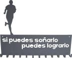 colgador medallas corredor chapa metal lacada personalizado deporte deportista