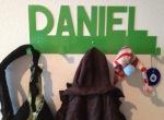 Perchero DANIEL nombre propio regalos originales personalizados perchas chapa metal RCdiseño